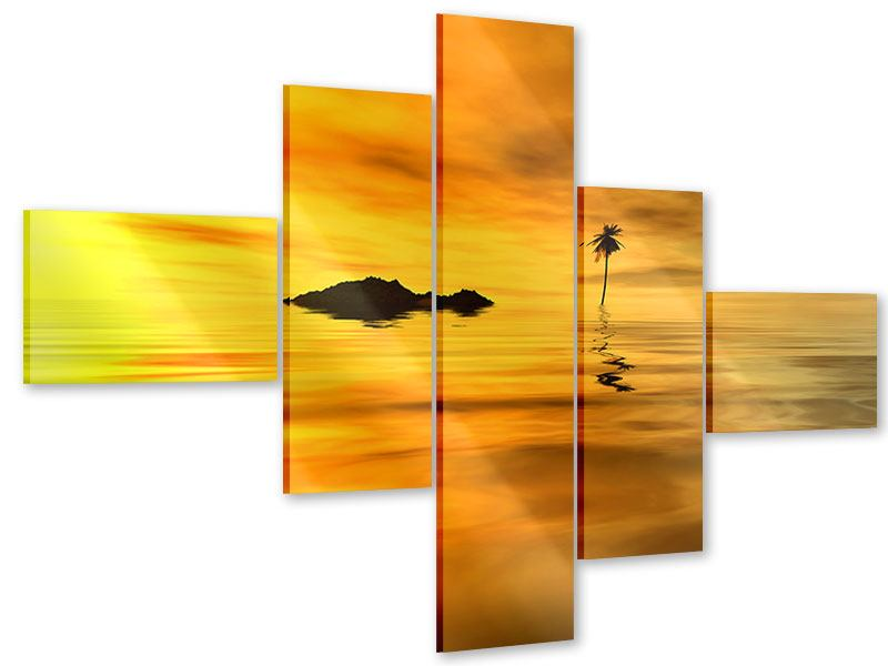 Acrylglasbild 5-teilig modern Ab auf die Insel