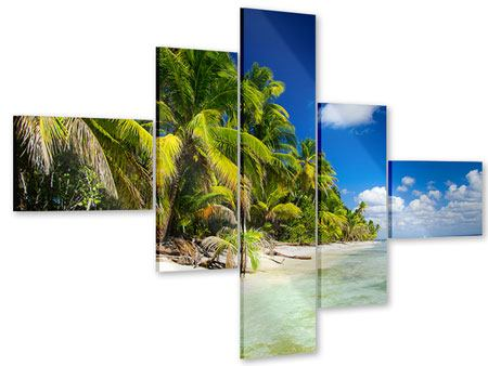 Acrylglasbild 5-teilig modern Die einsame Insel