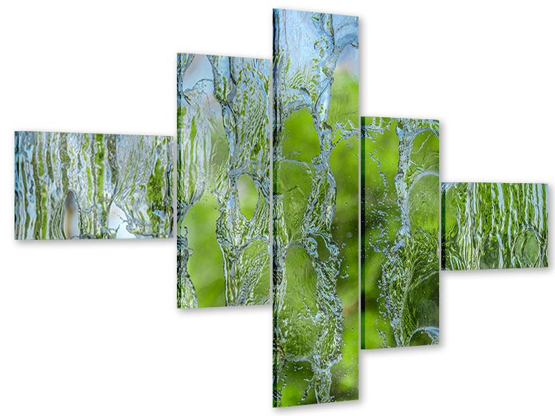 Acrylglasbild 5-teilig modern Hinter dem Wasserfall