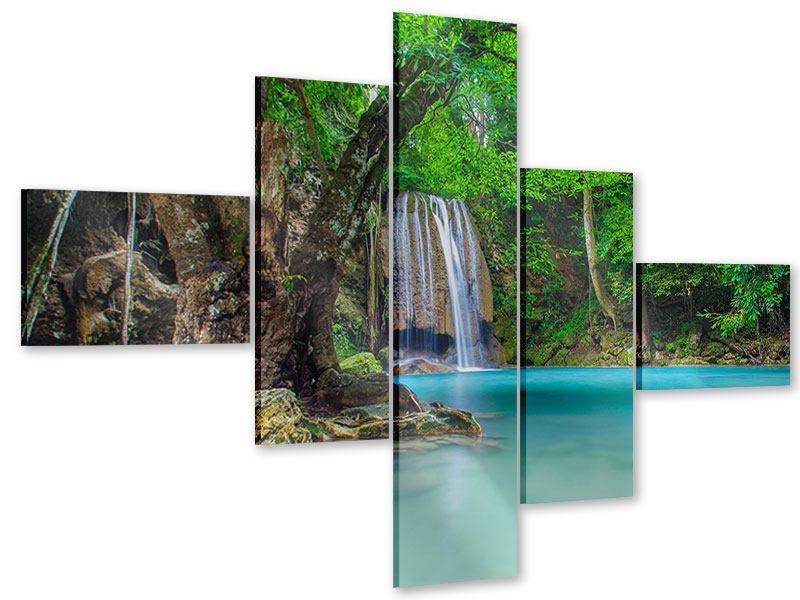 Acrylglasbild 5-teilig modern Fliessgewässer