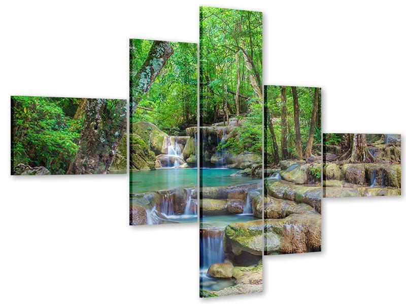 Acrylglasbild 5-teilig modern Wasserspektakel