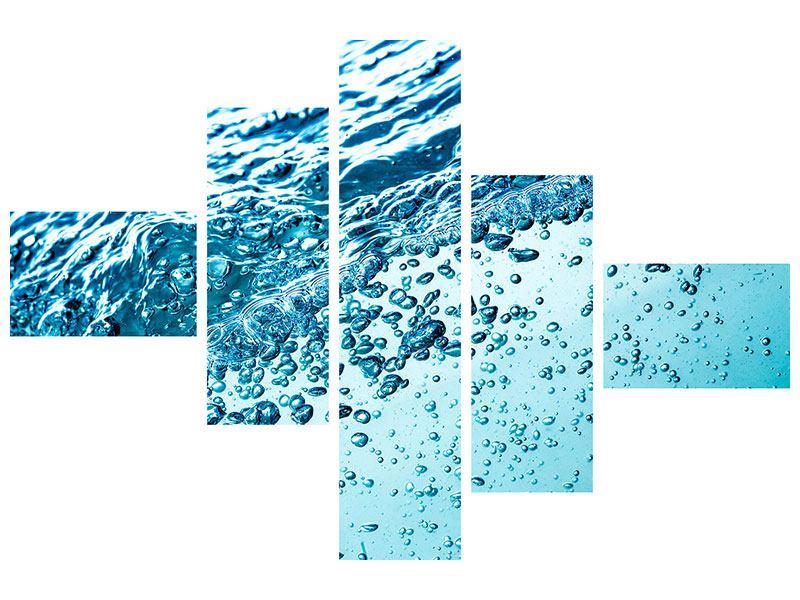 Acrylglasbild 5-teilig modern Wasser in Bewegung