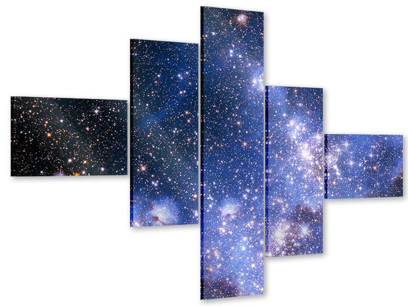 Acrylglasbild 5-teilig modern Sternenhimmel