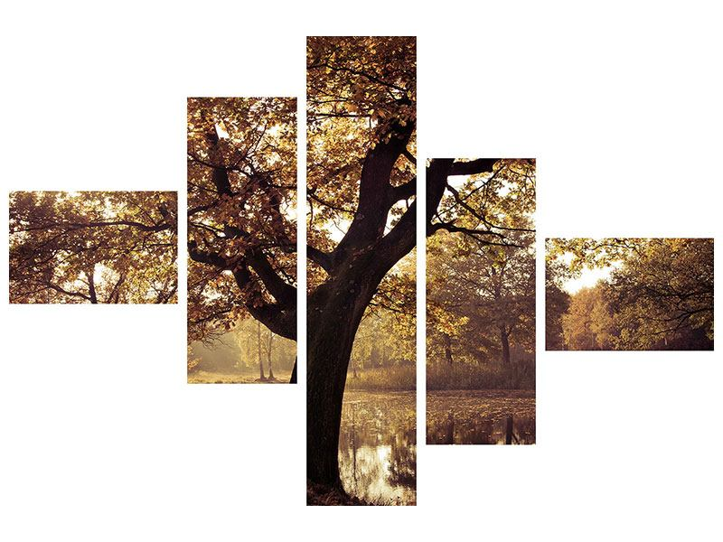 Acrylglasbild 5-teilig modern Landschaftspark
