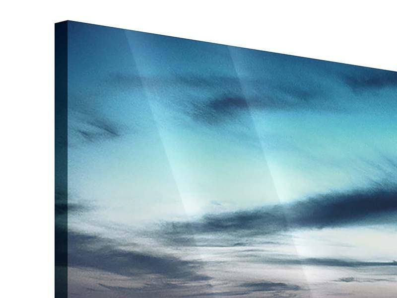 Acrylglasbild 5-teilig modern Skyline Manhattan Citylights