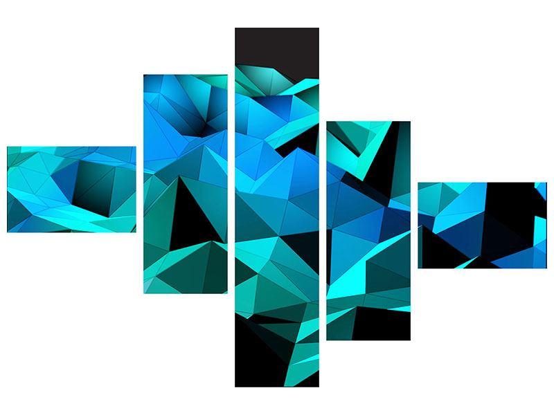 Acrylglasbild 5-teilig modern 3D-Diamonds