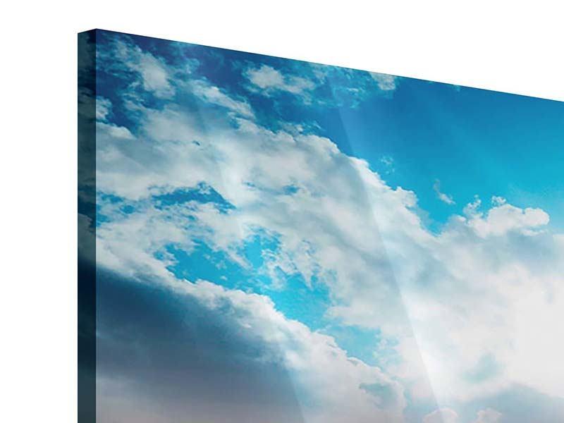 Acrylglasbild 5-teilig modern Skyline Über den Dächern von Manhattan