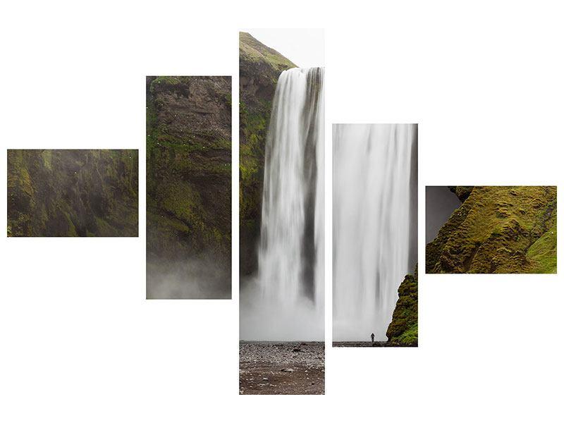 Acrylglasbild 5-teilig modern Skogafoss