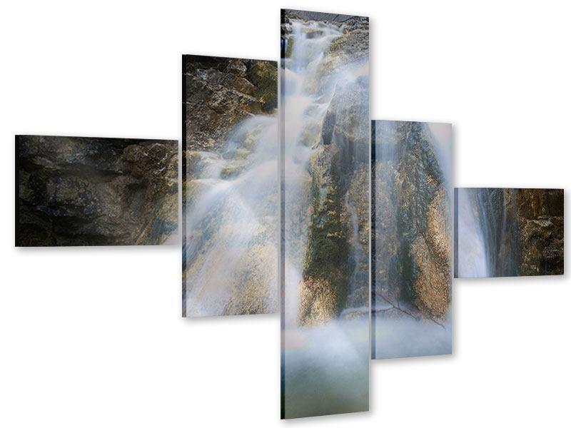 Acrylglasbild 5-teilig modern Imposanter Wasserfall