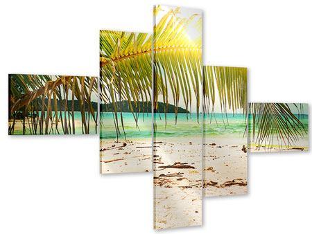Acrylglasbild 5-teilig modern Ab in die Hängematte
