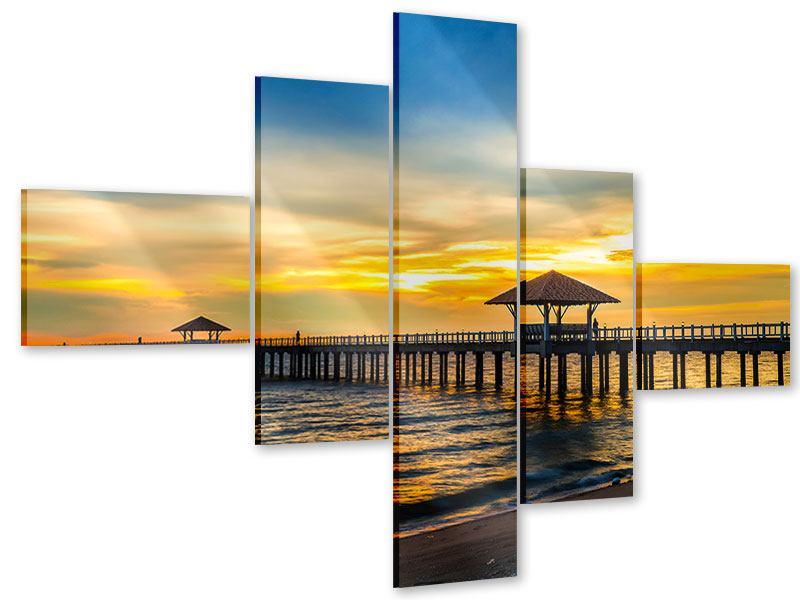 Acrylglasbild 5-teilig modern Brücke der Liebe
