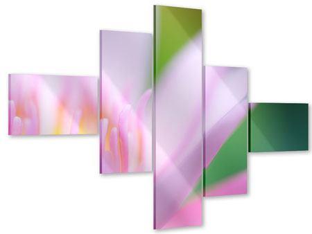Acrylglasbild 5-teilig modern XXL-Lilie