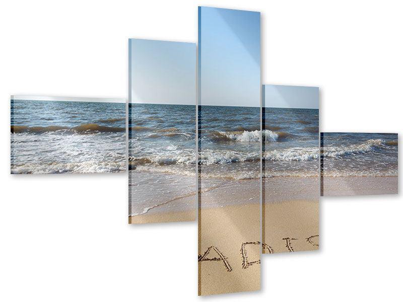 Acrylglasbild 5-teilig modern Sandspuren