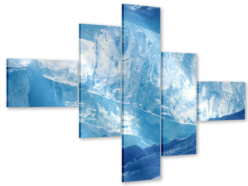 Acrylglasbild 5-teilig modern Baikalsee-Eis