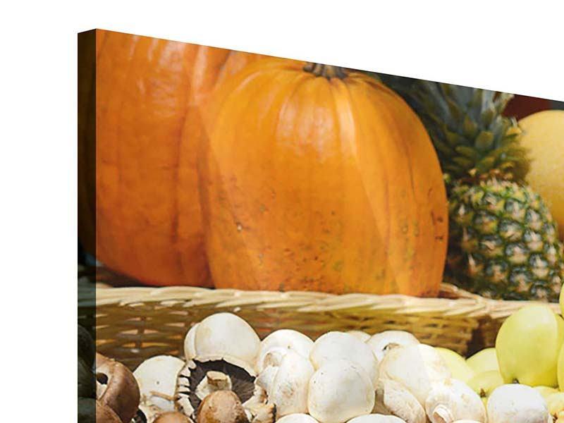 Acrylglasbild 5-teilig modern Obstmarkt