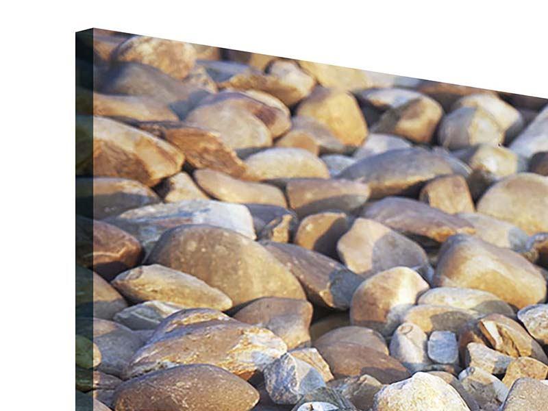 Acrylglasbild 5-teilig modern Strandsteine