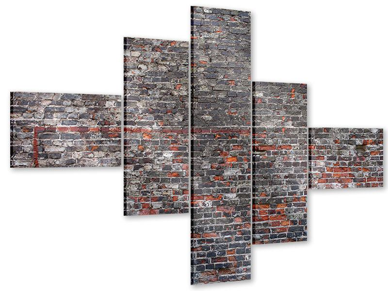 Acrylglasbild 5-teilig modern Alte Backsteine
