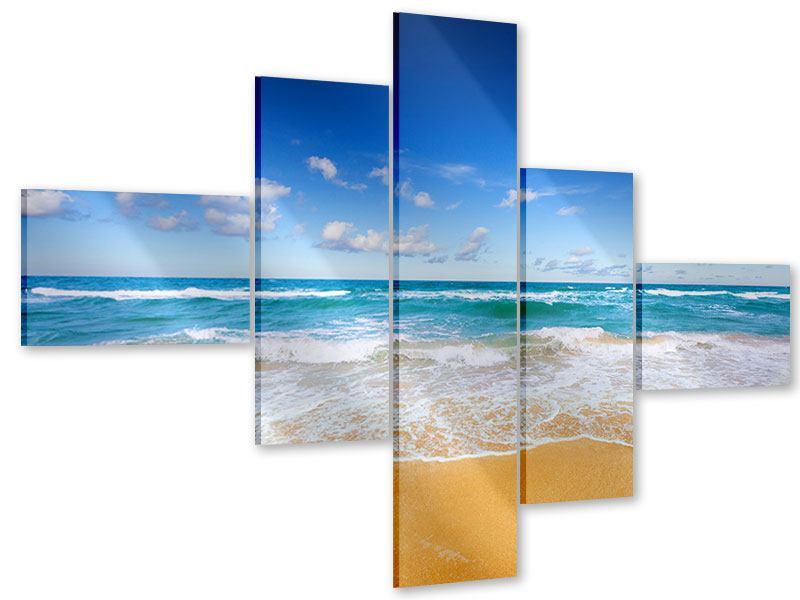 Acrylglasbild 5-teilig modern Die Gezeiten und das Meer