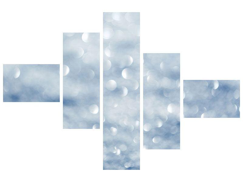 Acrylglasbild 5-teilig modern Kristallglanz