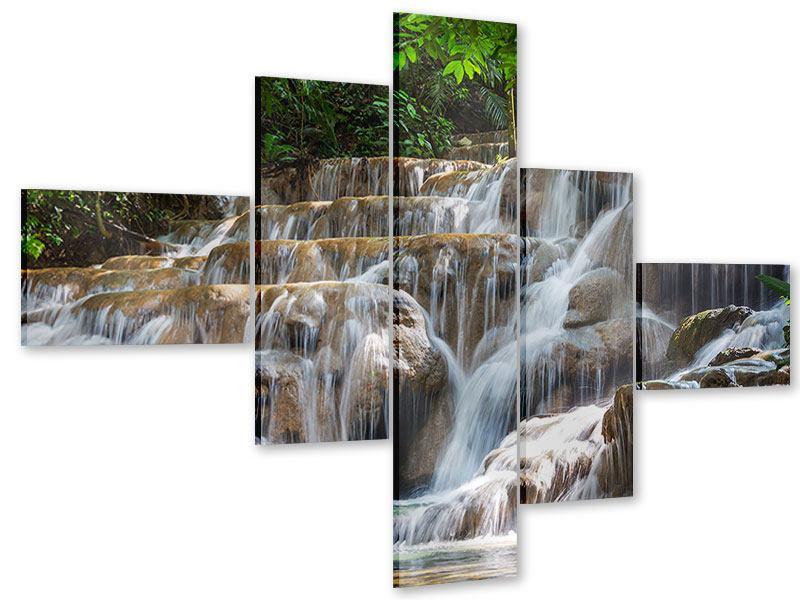 Acrylglasbild 5-teilig modern Mexikanischer Wasserfall