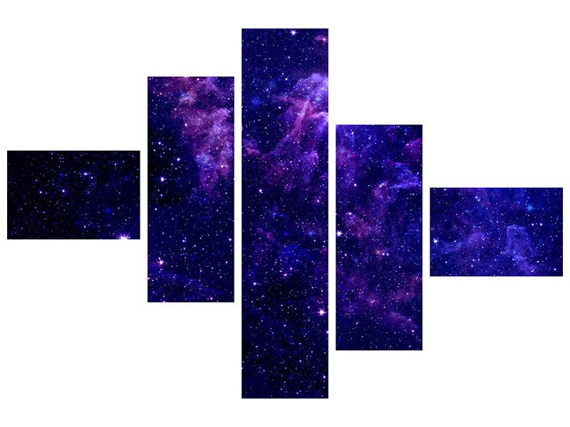 Acrylglasbild 5-teilig modern Ein Himmel voll Sterne