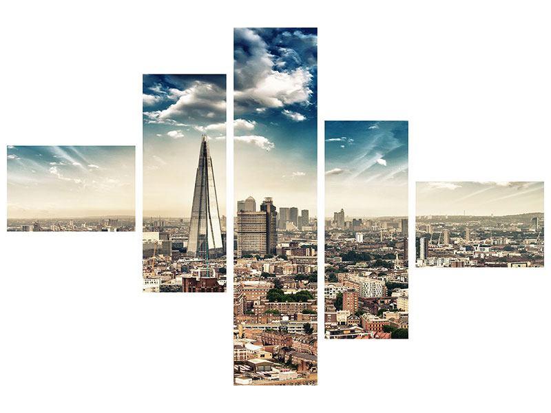 Acrylglasbild 5-teilig modern Skyline Über den Dächern von London