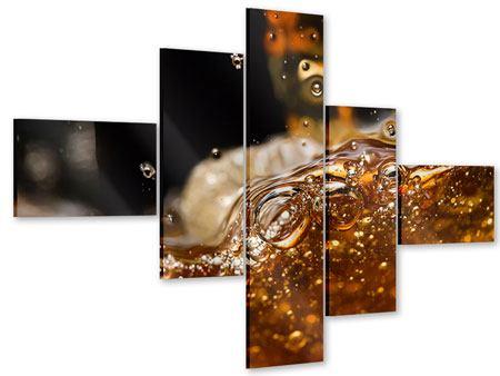 Acrylglasbild 5-teilig modern Cognac