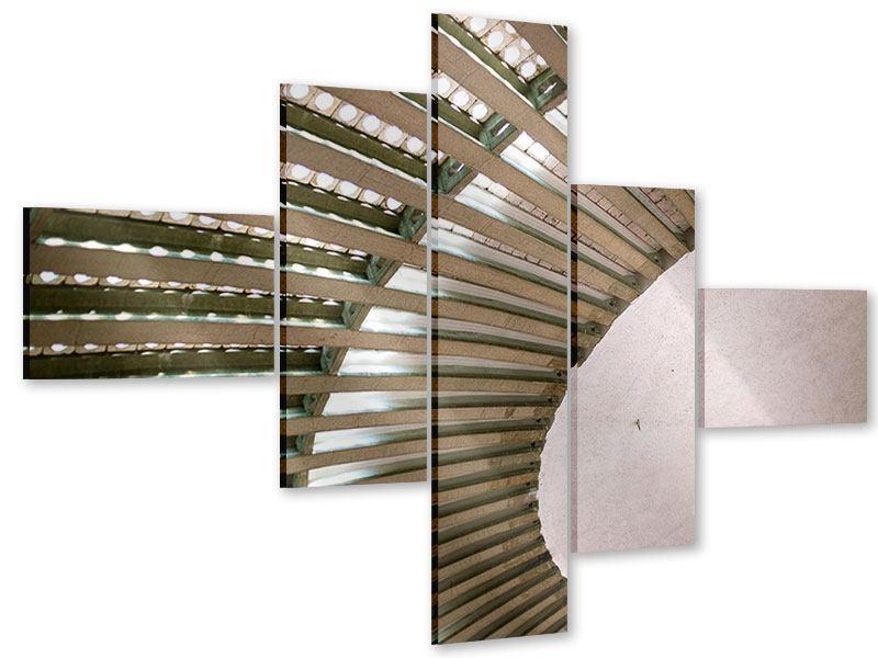 Acrylglasbild 5-teilig modern Abstraktes Rad