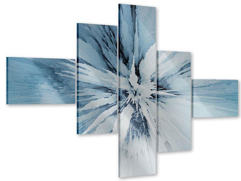 Acrylglasbild 5-teilig modern Eiskunst