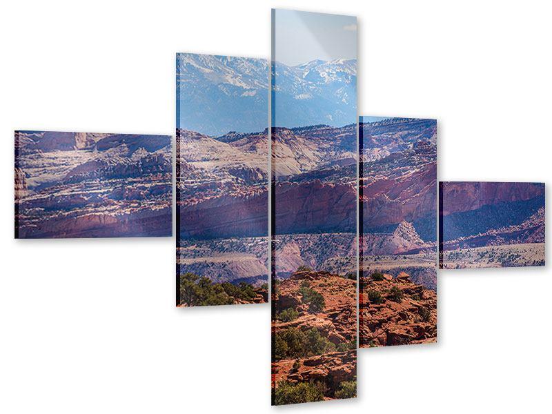 Acrylglasbild 5-teilig modern Bruce-Canyon-Nationalpark