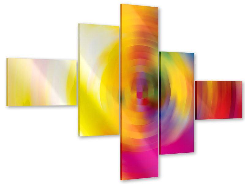 Acrylglasbild 5-teilig modern Abstrakte Farbkreise