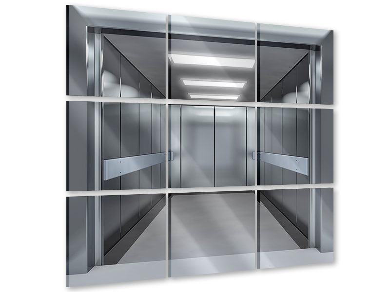 Acrylglasbild 9-teilig Aufzug