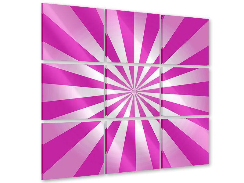 Acrylglasbild 9-teilig Abstrakt Lollipop