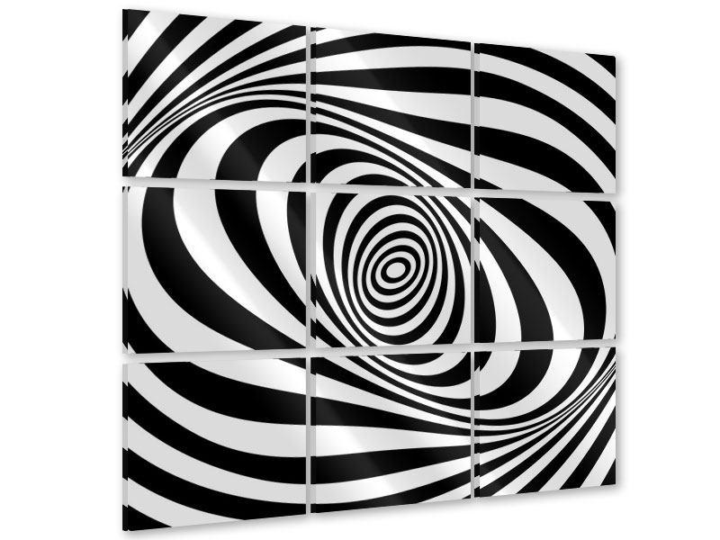 Acrylglasbild 9-teilig Abstrakte Wandbewegung
