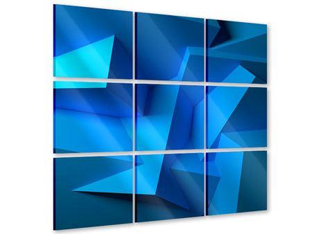 Acrylglasbild 9-teilig 3D-Abstraktion