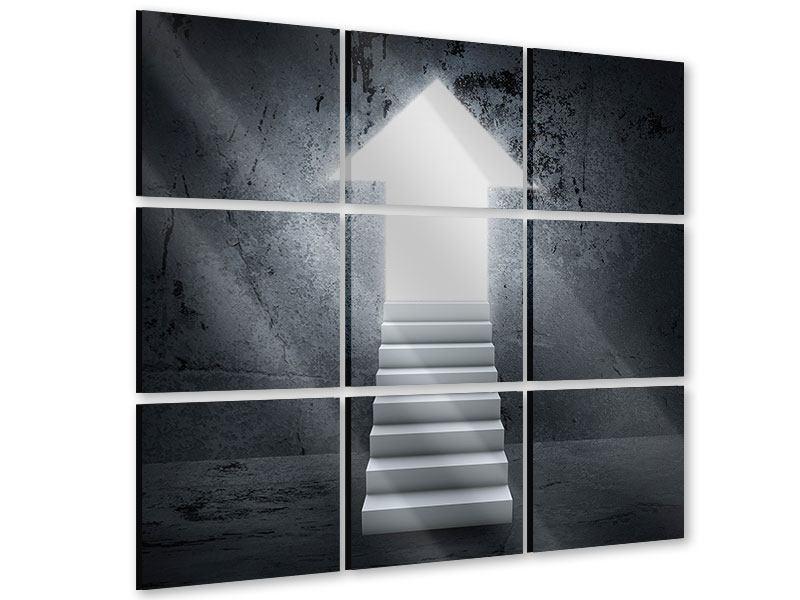 Acrylglasbild 9-teilig Der Aufstieg
