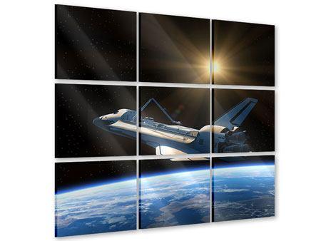 Acrylglasbild 9-teilig Das Raumschiff