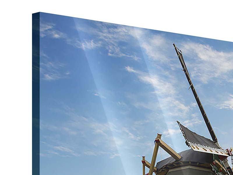 Acrylglasbild 9-teilig Die Windmühle mit den Tulpen