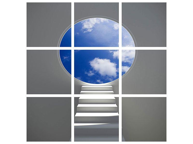 Acrylglasbild 9-teilig Himmelstreppe