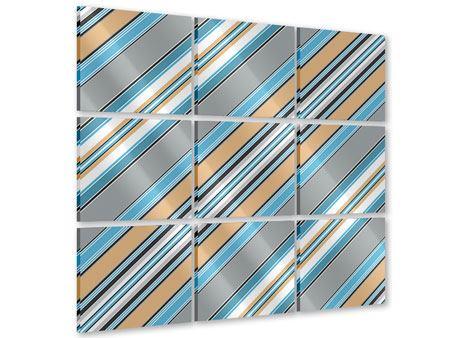 Acrylglasbild 9-teilig Farbstreifen