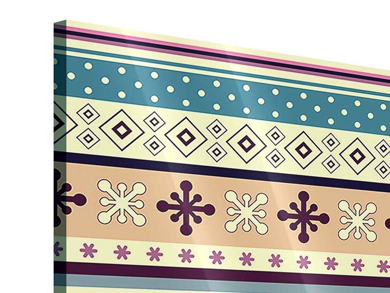 Acrylglasbild 9-teilig Verspielte Streifen