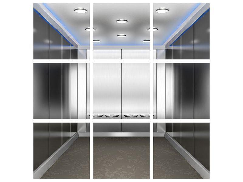 Acrylglasbild 9-teilig Eleganter Aufzug