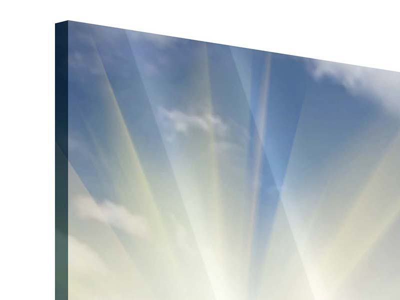 Acrylglasbild 9-teilig Sonnenblumen im Sonnenlicht