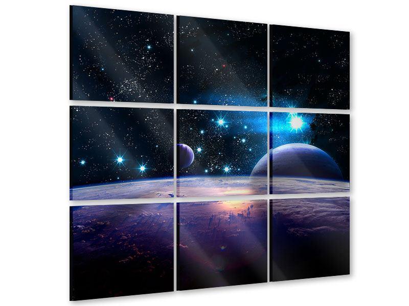 Acrylglasbild 9-teilig Das All