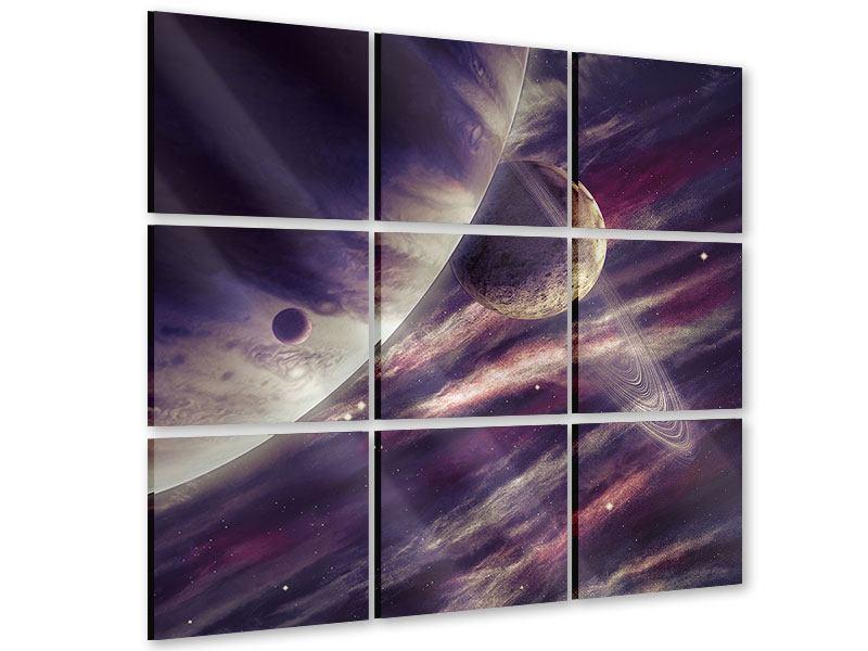 Acrylglasbild 9-teilig Weltraumreise