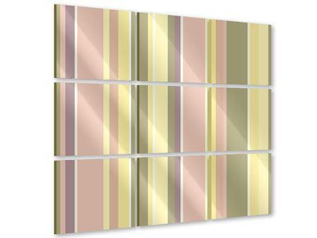 Acrylglasbild 9-teilig Längstreifen