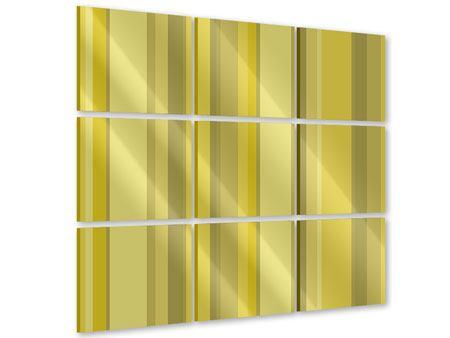 Acrylglasbild 9-teilig Streifen