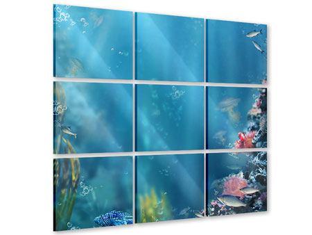 Acrylglasbild 9-teilig Unter Wasser