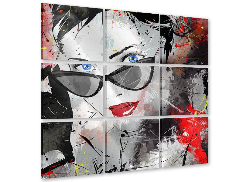 Acrylglasbild 9-teilig Face