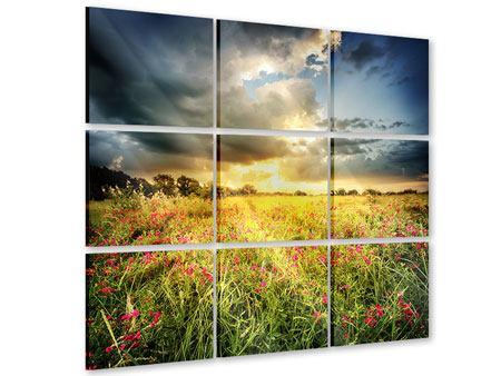 Acrylglasbild 9-teilig Die Blumenlandschaft